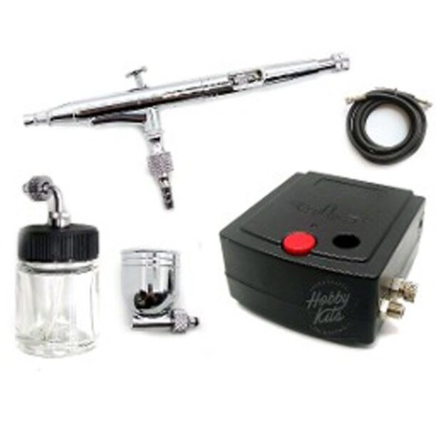 Aerógrafo-mini compresor para repostería 12v